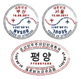 Nord- u. Südkorea Stockfotos