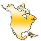 Nordamerika översiktsöversikt royaltyfri bild