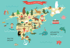 Nordamerika vektor illustrationer