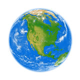 Nordamerika auf Erde Stockfotografie