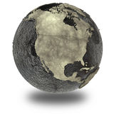 Nordamerika auf Erde des Öls Stockfoto