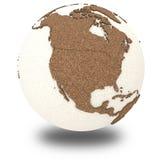 Nordamerika auf heller Erde Stockbild