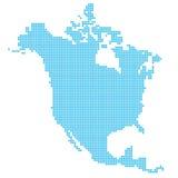 Nordamerika gjorde av prickar Arkivbild
