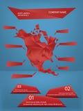 Nordamerika-infographics lizenzfreie abbildung