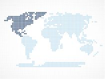 Nordamerika kontinent på världskartan royaltyfri illustrationer