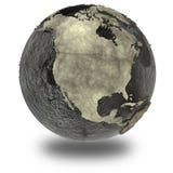 Nordamerika på jord av olja Arkivfoto