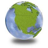 Nordamerika på planetjord Arkivfoton