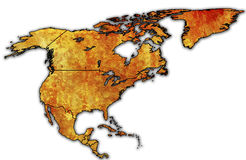 Nordamerika-politische Karte Stockbild