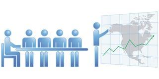 Nordamerika-Statistiken Stockbilder