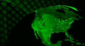 Nordamerika teknologibegrepp royaltyfri illustrationer