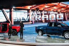 Nordamerikanische internationale Automobilausstellung 2018 stockbilder