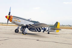 1945 nordamerikanische P-51D Mustang-Dame Alice Fighter Aircraft Lizenzfreie Stockfotografie