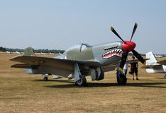 Nordamerikanischer Mustang der Luftfahrt-P-51 stockbilder