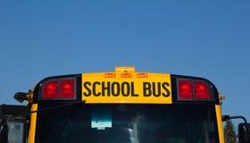 Nordamerikanisches Schulbus-Zeichen Stockbilder