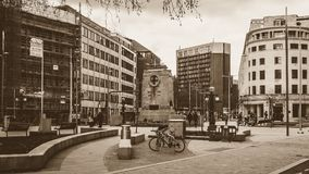 Nordansicht des Redevelop Stadtzentrums in Bristol Stockbilder