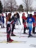 Nordbo skidar mötet Arkivbild