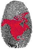 Nordc$amerika-fingerabdruck Lizenzfreie Stockfotos