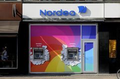 NORDE BANK ATM TURNS RAINBOW COLOURS Stock Photography