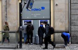 Nordea bank in copenhagen denmark royalty free stock photos