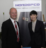 NORDEFCO_NORDIC防御合作 免版税库存照片