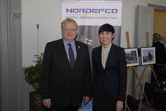 NORDEFCO_NORDIC防御合作 免版税图库摄影