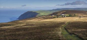 Norden av den Devon kustlinjen Arkivbild