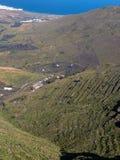 Norden av den Lanzarote ön, Spanien Arkivfoto