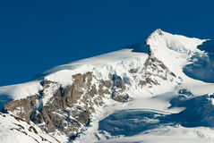 Nordend summit. (4609m) in winter. View from Gornergrat, Zermatt, Switzerland Royalty Free Stock Photography
