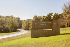 Nordendstation von Natchez Trace Parkway Lizenzfreies Stockfoto