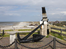 Norderney Anchor Memorial, Germany Royalty Free Stock Photography