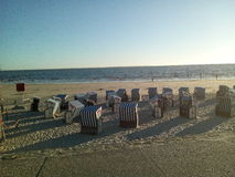 Norderney& x27;s beach. A cool Strand Stock Image