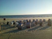 Norderney& x27; spiaggia di s Immagine Stock