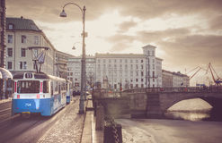 Nordeuropäische Stadt Stockbilder