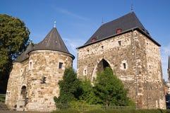 Nordfassade von Ponttor in Aachen Lizenzfreie Stockfotografie