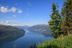 Nordfjord w lecie Obrazy Royalty Free