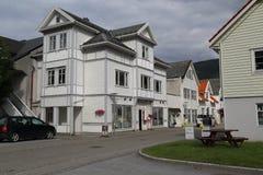 Nordfjordeyd村庄,挪威 免版税库存照片