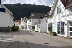 Nordfjordeyd村庄,挪威 库存图片