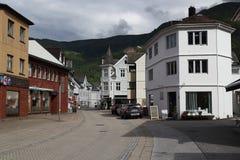 Nordfjordeyd by, Norge Arkivbilder