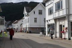 Nordfjordeyd by, Norge Royaltyfri Foto