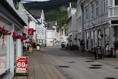 Nordfjordeyd by, Norge Arkivfoton