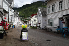 Nordfjordeyd by, Norge Royaltyfria Bilder