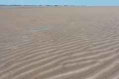 Nordfriesland. Beach at low tide in Sankt Peter-Ording in Nordfriesland, Schleswig-Holstein, Germany stock photos