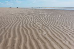 Nordfriesland. Beach at low tide in Sankt Peter-Ording in Nordfriesland, Schleswig-Holstein, Germany stock photography