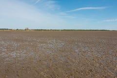 Nordfriesland. Big sandbank at low tide in Sankt Peter-Ording in Nordfriesland, Schleswig-Holstein, Germany royalty free stock photos