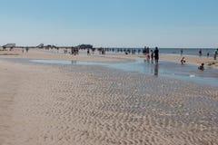 Nordfriesland. Big sandbank at low tide in Sankt Peter-Ording in Nordfriesland, Schleswig-Holstein, Germany stock photography