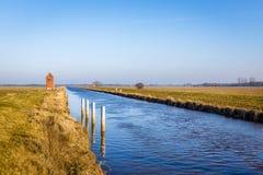 Nordgeorgsfehnkanal dichtbij Stickhausen Stock Fotografie