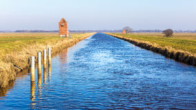 Nordgeorgsfehnkanal nahe Stickhausen Stockfotos