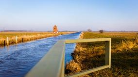 Nordgeorgsfehnkanal perto de Stickhausen Fotos de Stock Royalty Free