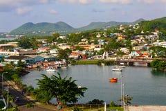 Nordhafen St- Lucia, Castries Stockbilder