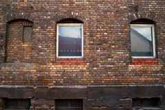 Nordhausen brick facades and windows in Germany. Nordhausen brick facades and windows in Harz Thuringia of Germany royalty free stock photography